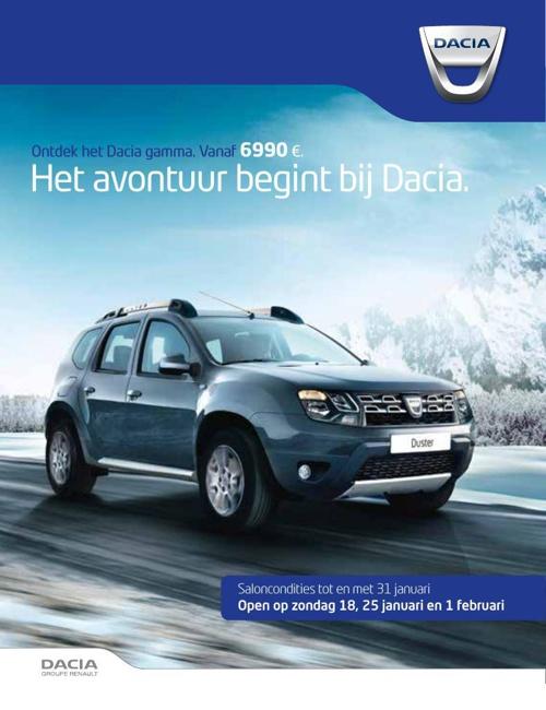 Saloncondities Dacia 2015