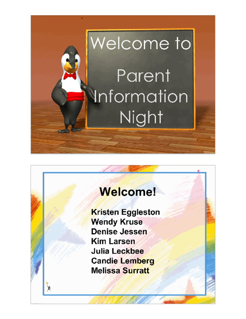 2nd Grade Curriculum Night