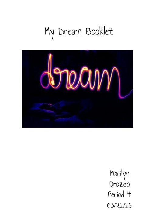 Marilyn's Dream Booklet