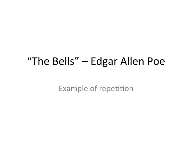 the bells repetition