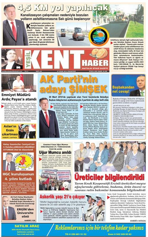 Yeşilkent Haber Gazetesi - Sayı 82