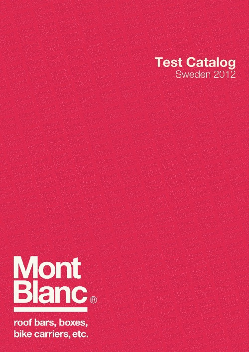 Mont Blanc catalogue