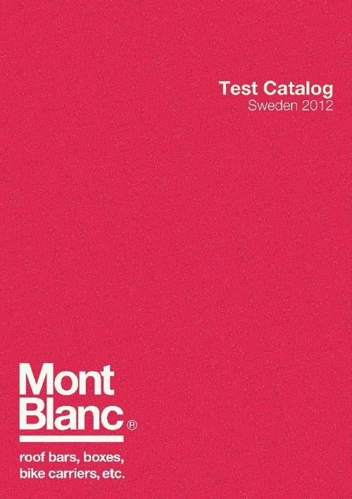 Mont Blanc catalogue