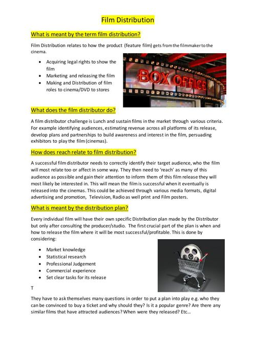 Film Distribution PDF