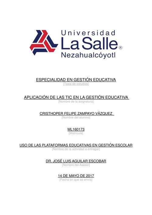 Uso de plataformas educativas en gestión escolar