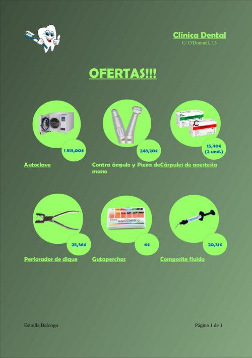 Ofertas de productos dentales