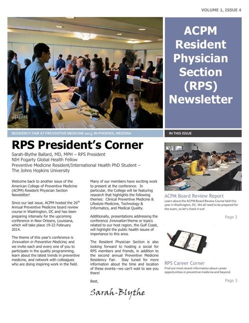 RPS Newsletter - 11/25/13