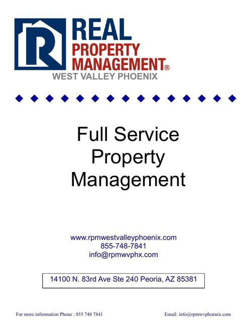 management brochure