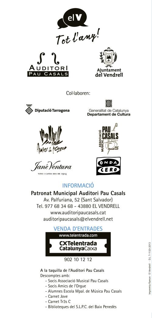 Cicle de Tardor 2013 - Auditori Pau Casals