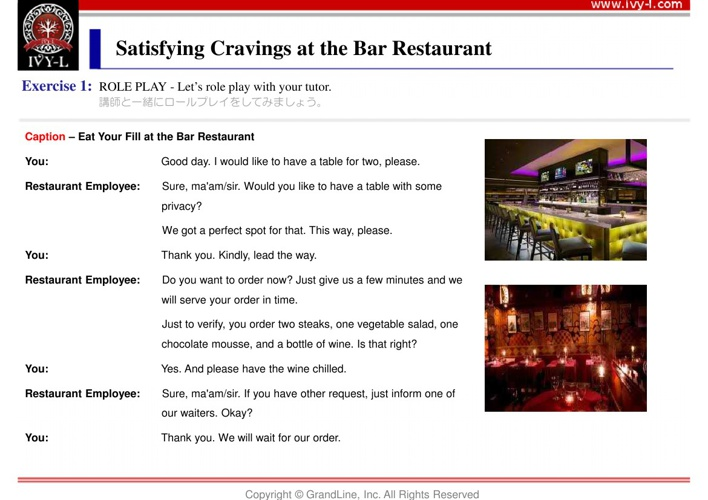 No.04 Satisfying cravings at the bar restaurant