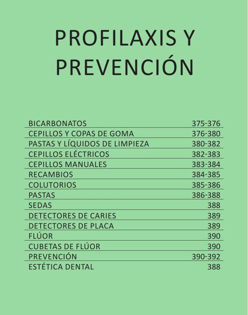 PROFILAXIS Y PREVENCION - CAT. GRAL. 2015 CASA SCHMIDT