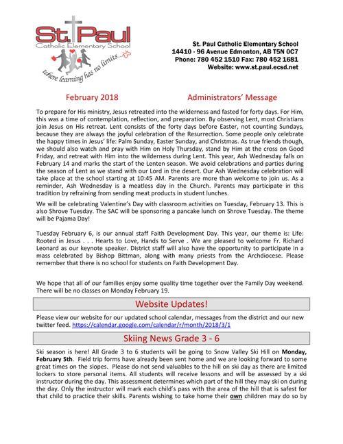 Newsletter February 2018