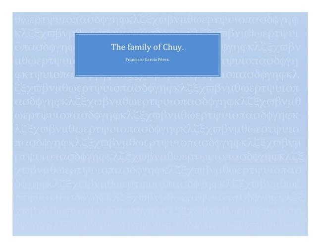 la familia de Chuy.