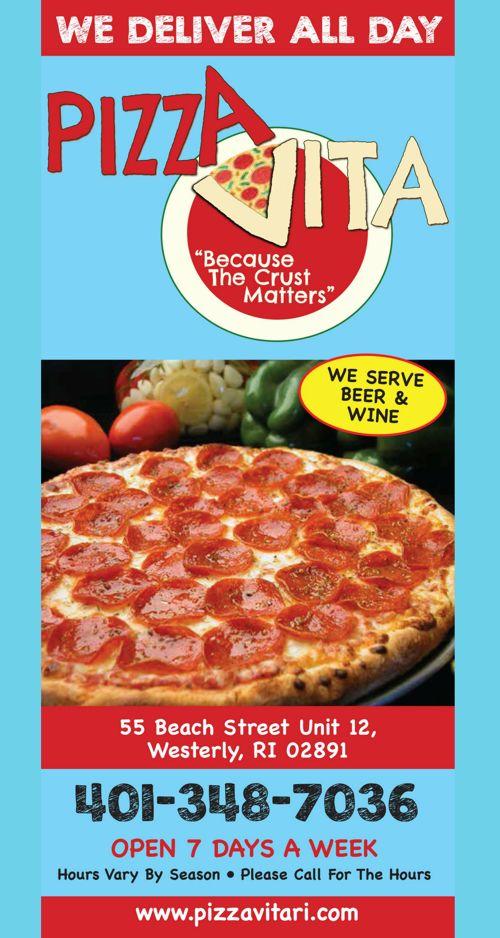 Pizza Vita Take Out Menu 2017