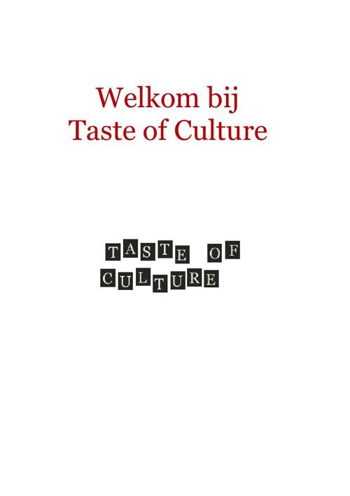 Menu Taste of Culture
