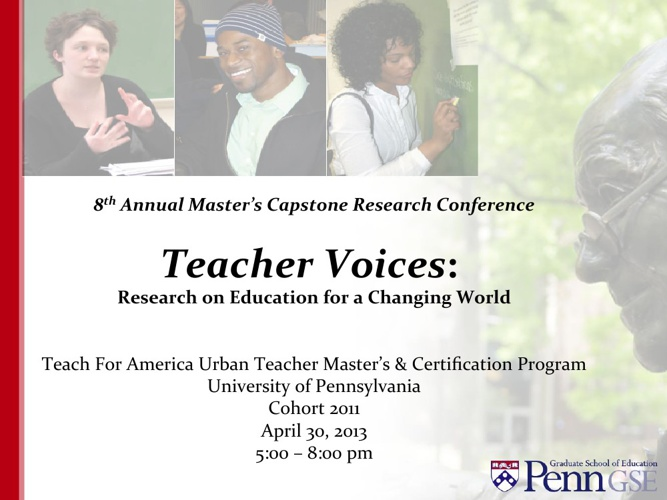 8th Annual Master's Capstone Research Conference