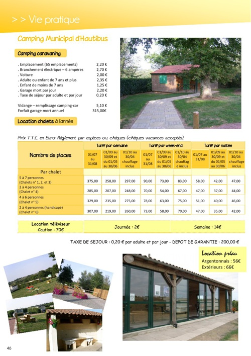 Bulletin municipal pages 46 à 56
