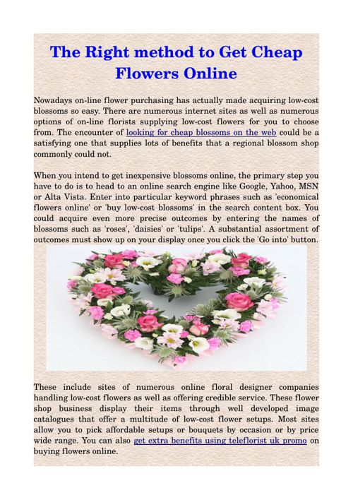 The Right method to Get Cheap Flowers Online