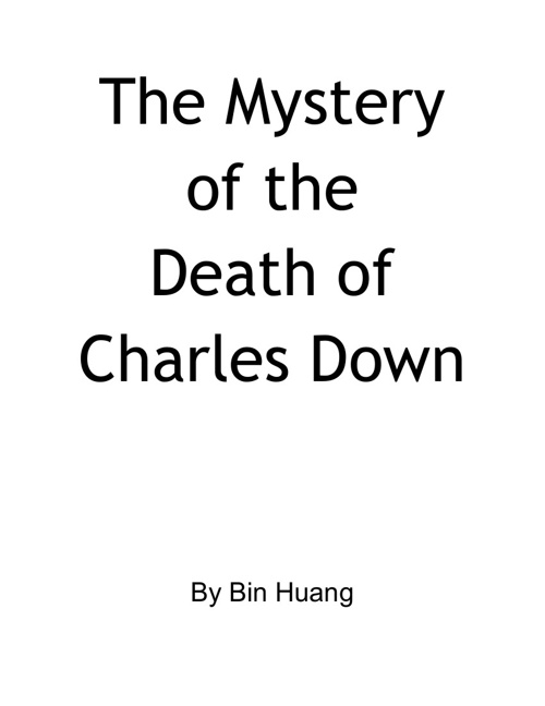 The Mystery of the Death of Charles Down