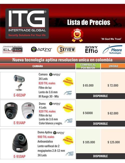 lista de precios itg