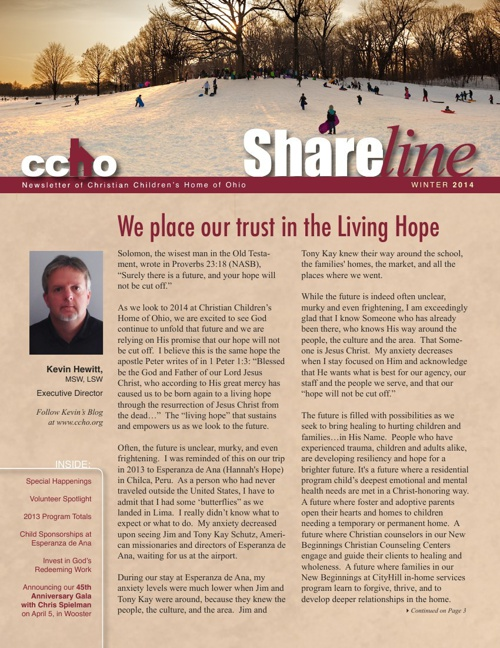 CCHO Shareline - Winter2014