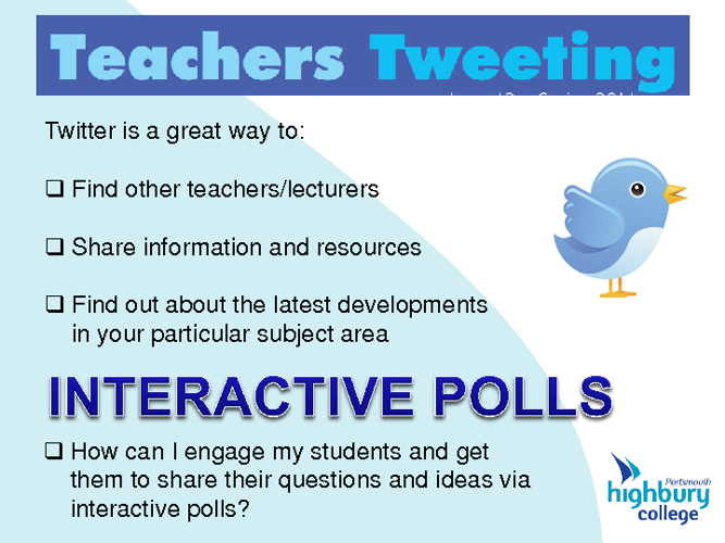 Twitter for Teachers & Interactive Polls (By Graham Carter)