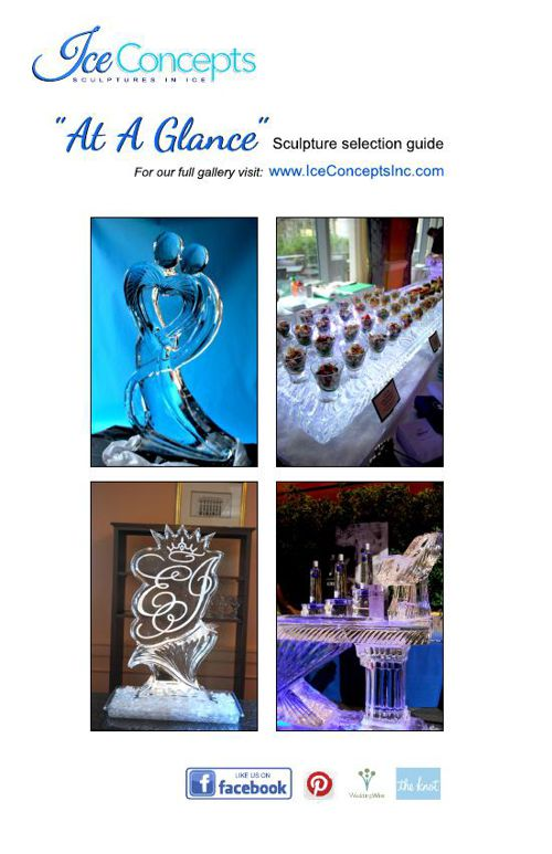 At A Glance Ice Sculpture Selection Guide