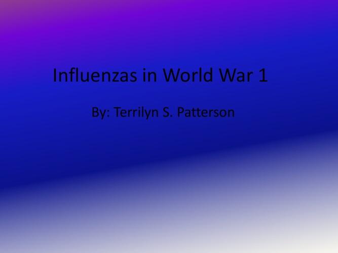 Influenzas in World War 1