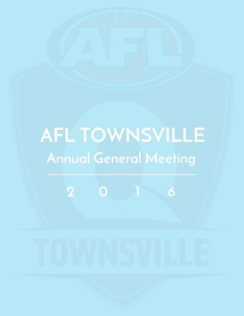 AFL Townsville AGM 2016