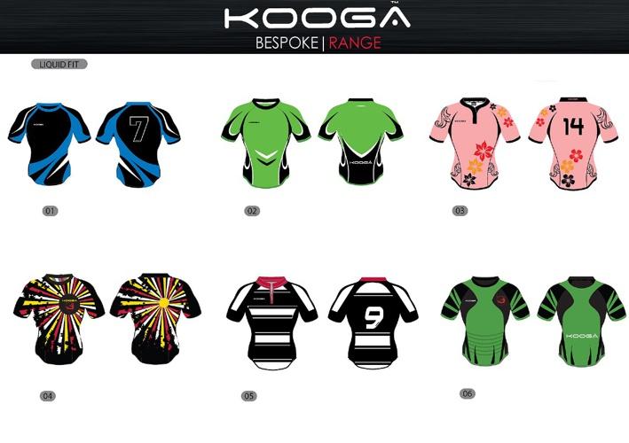 Kooga Sublimation templates 2013