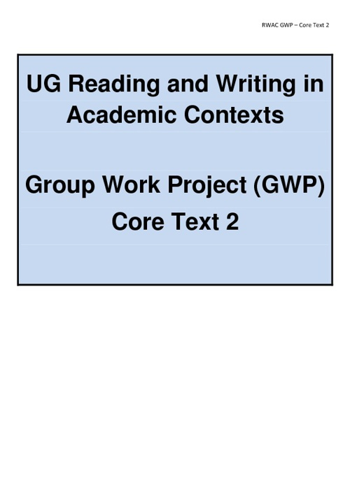 GWP Core Text 2