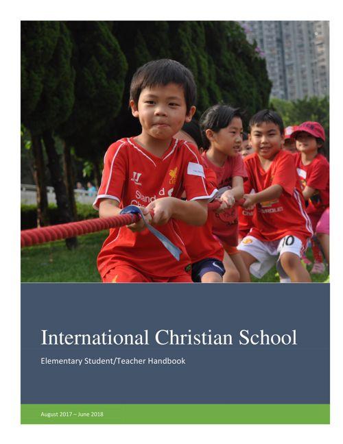 Elementary Student Parent Handbook 2017_18_July21