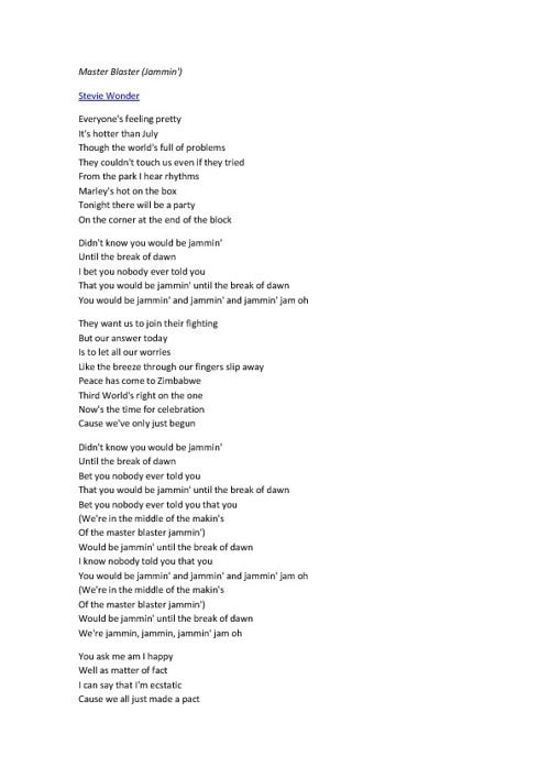 Letras de música