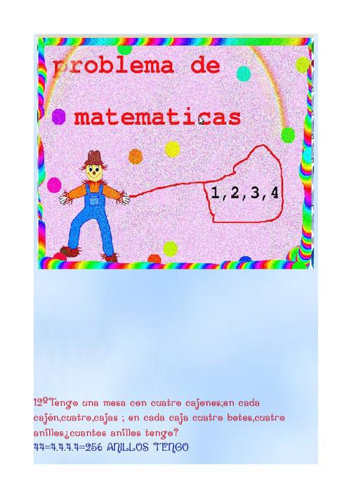 Problemas  de matematicas tema 3