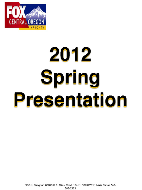 KFXO Spring 2012