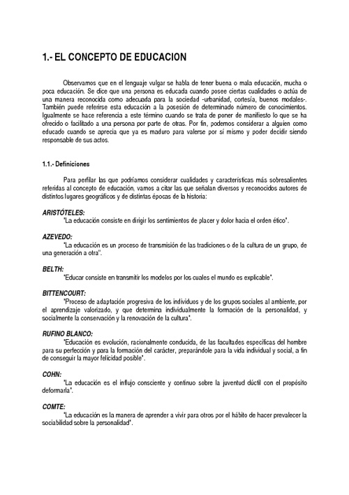 Concepto Educación Mtro José Ramón Castañón