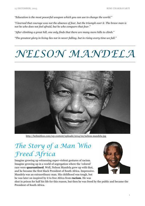 Nelson Mandela by Rimi Chakravarti