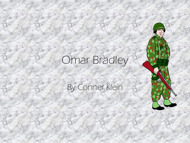Omar Bradly