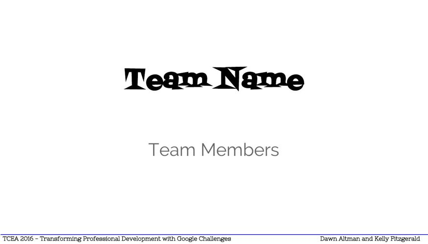 Copy of Team Eportfolio Templat