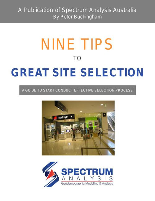 Nine tips to great site selection