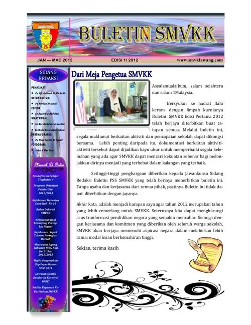Buletin SMV Kuala Klawang Edisi 1 2012