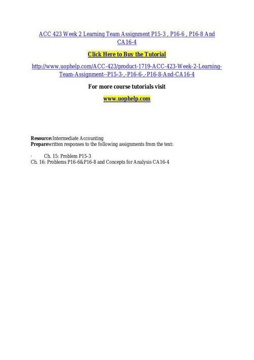 ACC 423ACADEMIC COACH / UOPHELP