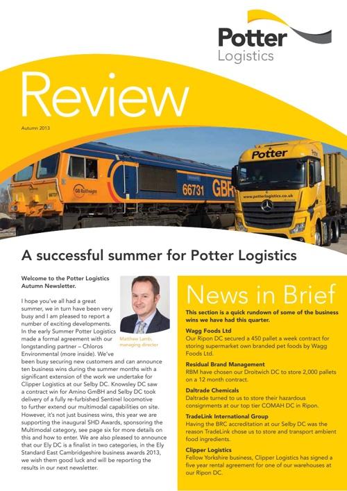 Potter Logistics Review - Autumn 2013