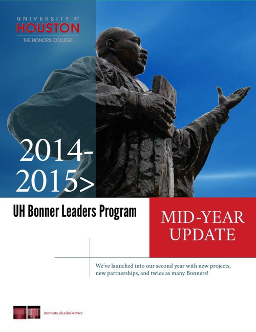 UH Bonner 2014-2015 Mid-Year Update