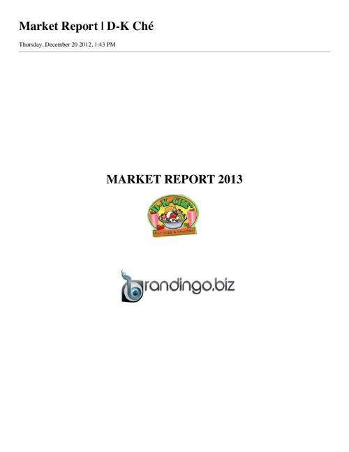 D-K-Ché Business Services Proposal: Brandingo.biz
