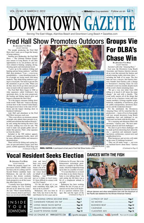 Downtown Gazette     March 2, 2012