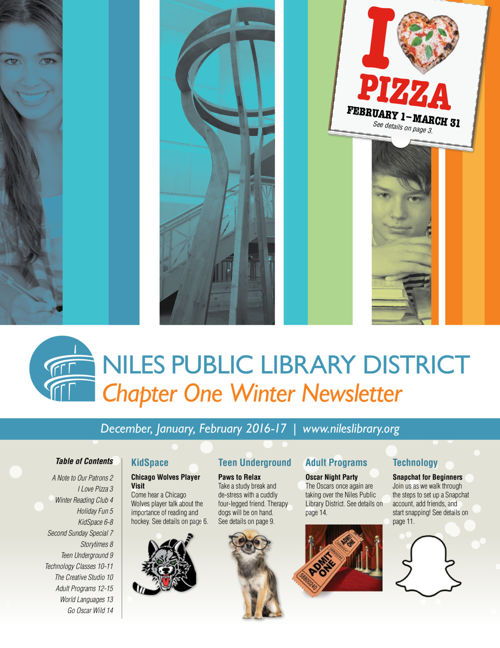 Chapter One Newsletter - Winter 2016-17