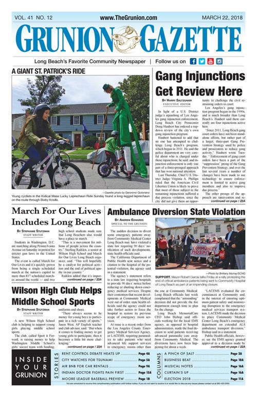 Grunion Gazette 3-22-18