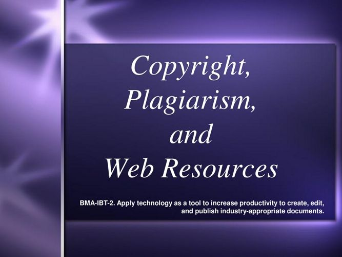 1st Copyright PowerPoint