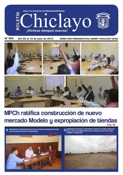 """Boletín """"Chiclayo"""" - N° 005"""